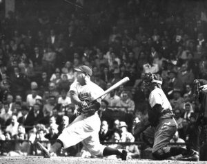 Roy Campanella Hitting at Ebbets Field
