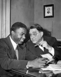 Robinson Jackie and branch rickey 1947