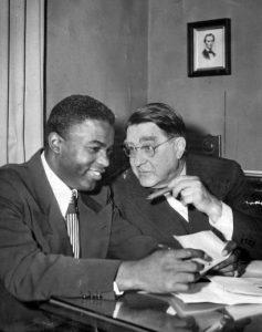 Robinson Jackie and branch rickey 1947