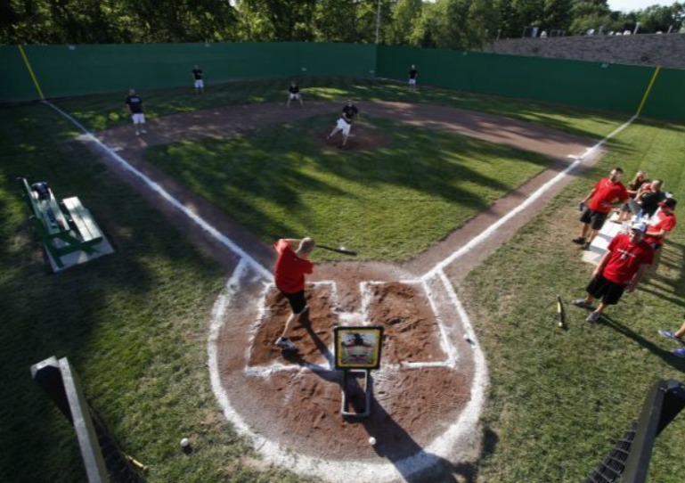 Wiffle ball stadium is a field of dreams